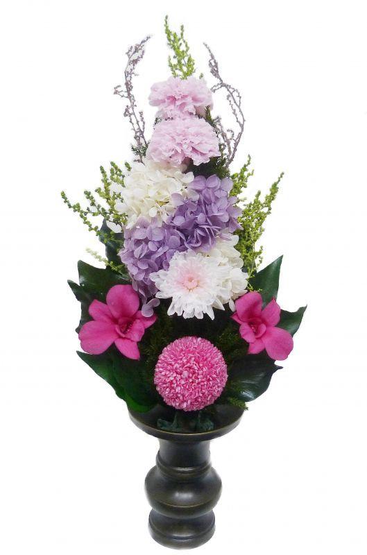 プリザーブドフラワー仏花009 サイズ(M) (花器は付属しておりません)                                                                                                                    【仏花 プリザーブドフラワー009】サイズ:全長約32cm(内、茎約9cm)